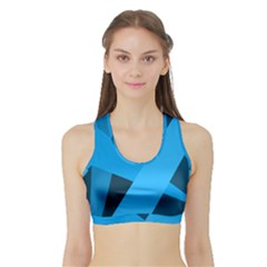 Blue Flag Sports Bra with Border