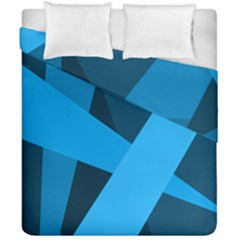 Blue Flag Duvet Cover Double Side (california King Size)