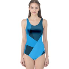Blue Flag One Piece Swimsuit