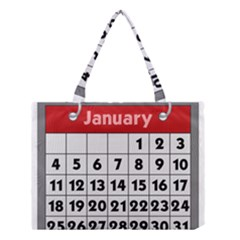 Calendar Clip January Medium Tote Bag