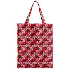 Birds Seamless Cute Birds Pattern Cute Red Zipper Classic Tote Bag