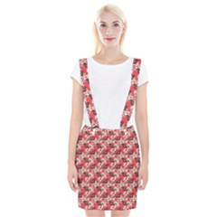 Birds Seamless Cute Birds Pattern Cute Red Suspender Skirt