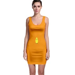 Chicks Orange Animals Sleeveless Bodycon Dress