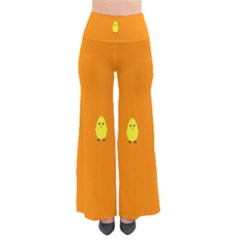 Chicks Orange Animals Pants
