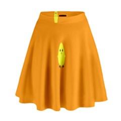 Chicks Orange Animals High Waist Skirt