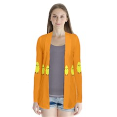 Chicks Orange Animals Cardigans