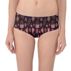 Bread Chocolate Candy Mid-Waist Bikini Bottoms