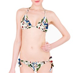 Bird Green Swan Bikini Set