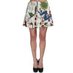 Bird Green Swan Skater Skirt