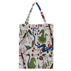 Bird Green Swan Classic Tote Bag