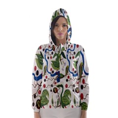 Bird Green Swan Hooded Wind Breaker (Women)