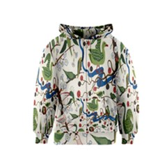 Bird Green Swan Kids  Zipper Hoodie
