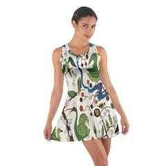 Bird Green Swan Cotton Racerback Dress
