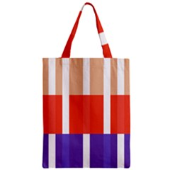 Compound Grid Flag Purple Red Brown Zipper Classic Tote Bag