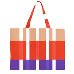 Compound Grid Flag Purple Red Brown Large Tote Bag