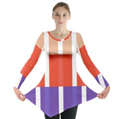 Compound Grid Flag Purple Red Brown Long Sleeve Tunic