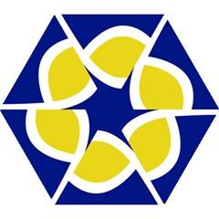 Flag Blue Yellow White Mini Folding Umbrellas