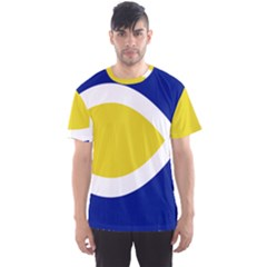 Flag Blue Yellow White Men s Sport Mesh Tee