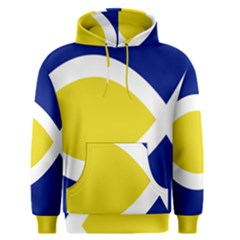Flag Blue Yellow White Men s Pullover Hoodie