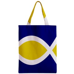 Flag Blue Yellow White Zipper Classic Tote Bag