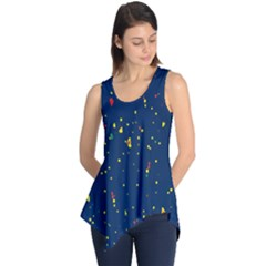 Christmas Sky Happy Sleeveless Tunic