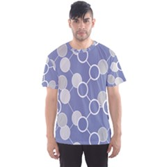 Circle Blue Line Grey Men s Sport Mesh Tee