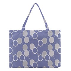 Circle Blue Line Grey Medium Tote Bag