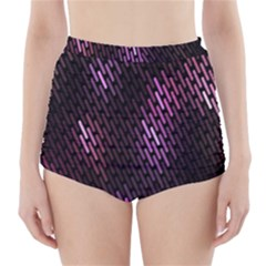 Fabulous Purple Pattern Wallpaper High-Waisted Bikini Bottoms