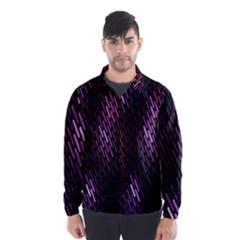 Fabulous Purple Pattern Wallpaper Wind Breaker (Men)