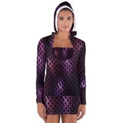 Fabulous Purple Pattern Wallpaper Women s Long Sleeve Hooded T-shirt