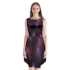 Fabulous Purple Pattern Wallpaper Sleeveless Chiffon Dress