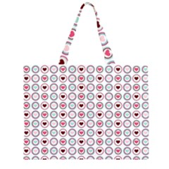 Circle Love Heart Purple Pink Blue Large Tote Bag