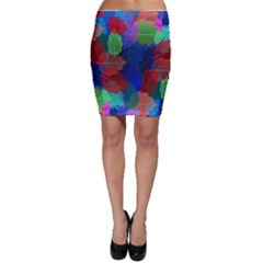 Floral Flower Rainbow Color Bodycon Skirt