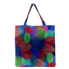 Floral Flower Rainbow Color Grocery Tote Bag