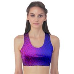 Geometri Purple Pink Blue Shape Pattern Flower Sports Bra
