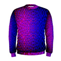 Geometri Purple Pink Blue Shape Pattern Flower Men s Sweatshirt
