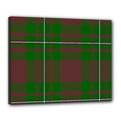 Cardney Tartan Fabric Colour Green Canvas 20  x 16