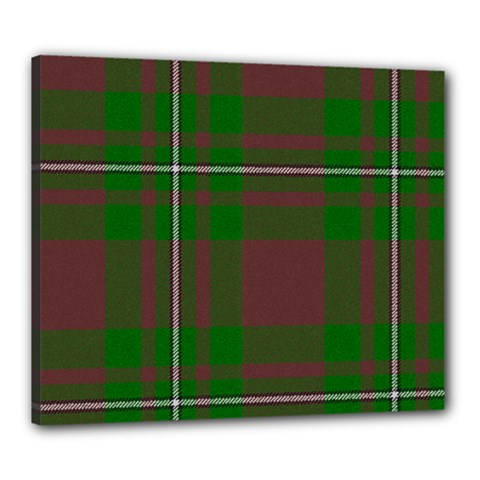 Cardney Tartan Fabric Colour Green Canvas 24  x 20