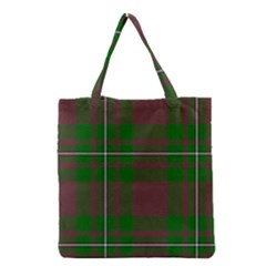 Cardney Tartan Fabric Colour Green Grocery Tote Bag