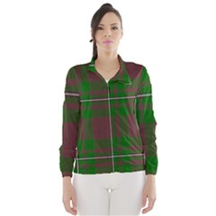 Cardney Tartan Fabric Colour Green Wind Breaker (Women)