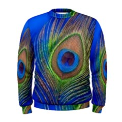 Blue Peacock Feather Men s Sweatshirt