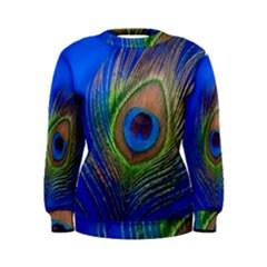 Blue Peacock Feather Women s Sweatshirt
