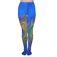 Blue Peacock Feather Women s Tights