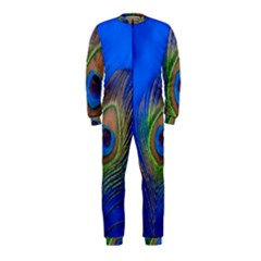 Blue Peacock Feather OnePiece Jumpsuit (Kids)