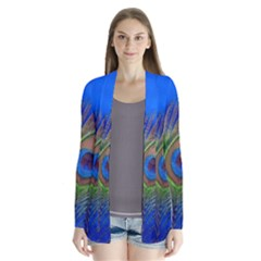 Blue Peacock Feather Cardigans