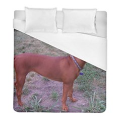Redbone Coonhound Full Duvet Cover (Full/ Double Size)