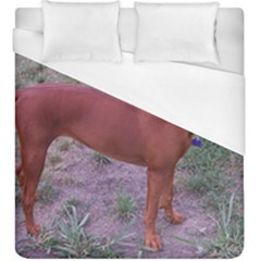 Redbone Coonhound Full Duvet Cover (King Size)