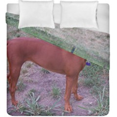 Redbone Coonhound Full Duvet Cover Double Side (King Size)