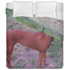 Redbone Coonhound Full Duvet Cover Double Side (California King Size)