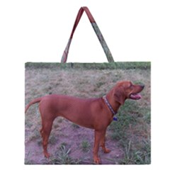 Redbone Coonhound Full Zipper Large Tote Bag